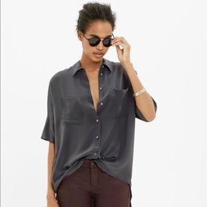 Madewell Silk Courier Shirt